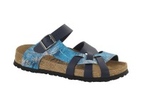 Outlet / Birkenstock Pisa Tropical Leaf Blue Soft