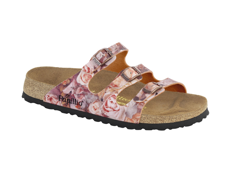 Birkenstock Florida Silky Rose Red