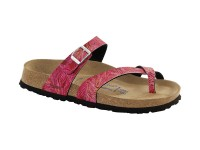 | Akciós női Birkenstock / Papillio Tabora Tropical pink soft széles talp