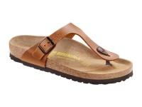 | Lábujjközis papucsok / Birkenstock Gizeh Bőr Brown széles talp