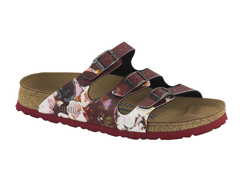 Birkenstock Florida  Painted Bloom Red Soft