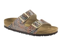 Outlet / Birkenstock Arizona Shiny Snake Sand