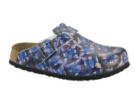 Outlet / Birkenstock Boston Caleido Blue Soft