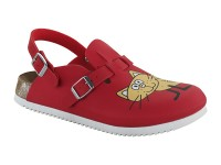 Papucs / Birkenstock Kay SL Cat Red
