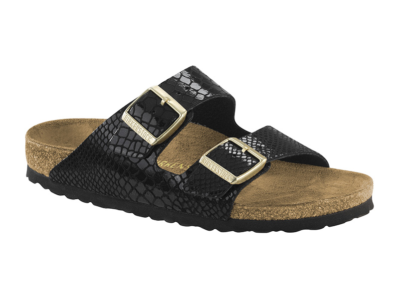 Birkenstock Arizona  Shiny Snake Black
