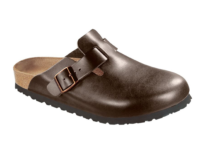 Birkenstock Boston Brown Bőr Soft Széles