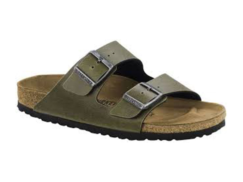 Birkenstock Arizona Pull Up Olive Széles talp