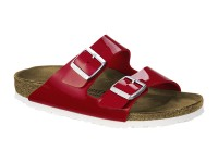 Outlet / Birkenstock Arizona TangoRed Lakk Fehér talp