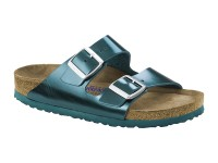 Outlet / Birkenstock Arizona Metal Green Bőr Soft