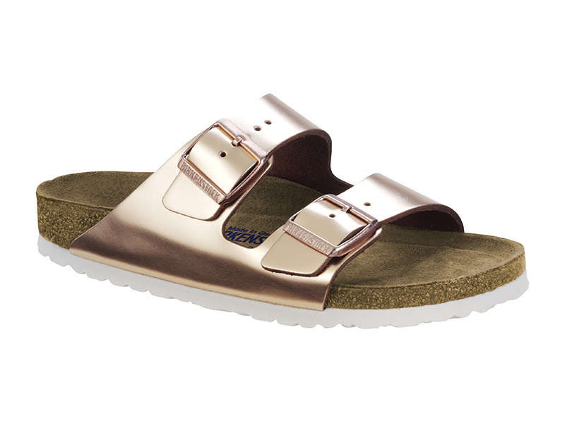 Birkenstock Arizona Metal Copper Bőr Soft