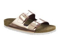 Papucs / Birkenstock Arizona Metal Copper Bőr Soft