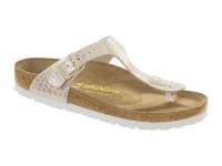 | Lábujjközis papucsok / Birkenstock Gizeh-Shiny cream-keskeny talp