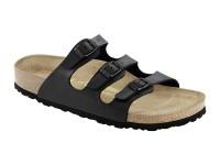 | Hárompántos papucsok / Birkenstock FLorida-Fekete- normál talp puha talpbetét
