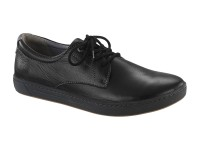 Cipő / Birkenstock Navarino Black Bőr Széles talp