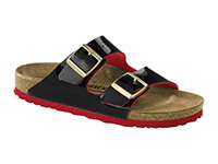Outlet / Birkenstock Arizona Black-Red lakk