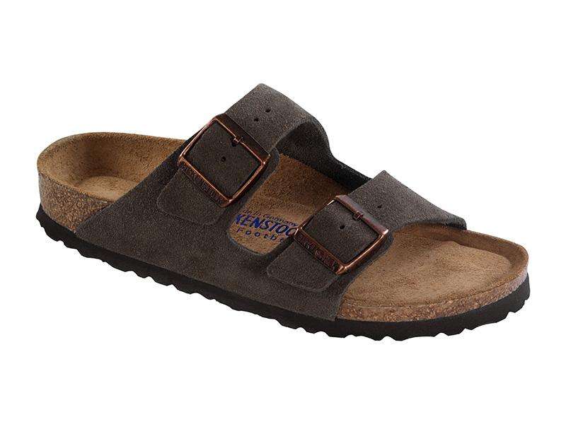 Birkenstock papucs Arizona Mocha Velur Soft