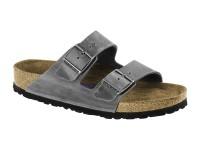 Papucs / Birkenstock Arizona Iron Bőr Soft Széles