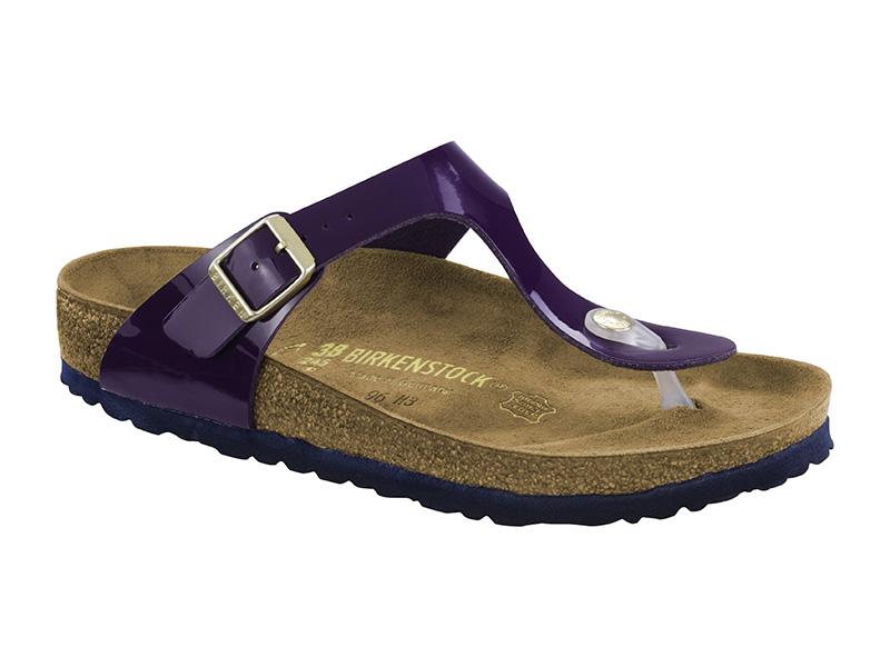 Birkenstock Gizeh Purple Lakk Széles talp