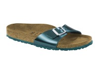 Outlet / Birkenstock Madrid Metal Green Bőr