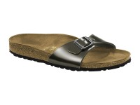 Outlet / Birkenstock Madrid Metal Antrachite Bőr Széles talp