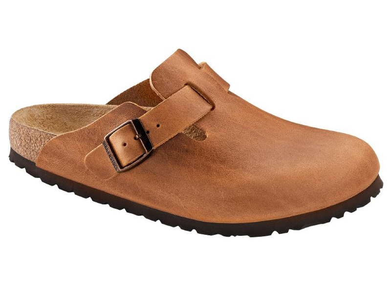 Birkenstock Boston Antique Brown Bőr