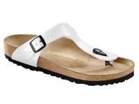 Lábujjközis papucs / Birkenstock Gizeh Fehér Lakk