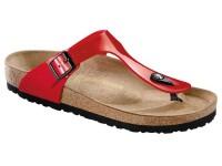 | Lábujjközis papucsok / Birkenstock Gizeh Tango red széles talp