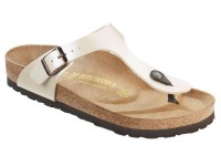 | Lábujjközis papucsok / Birkenstock Gizeh - Peal white széles talp