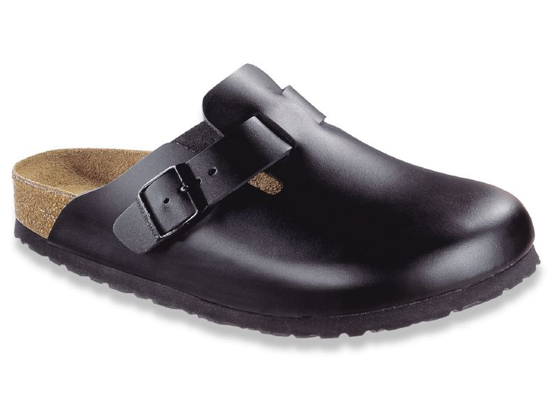 Birkenstock Boston Fekete Bőr Soft