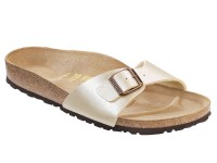 Papucs / Birkenstock Madrid Pearl White