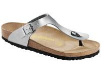 | Lábujjközis papucsok / Birkenstock Gizeh Silver széles talp