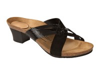 Outlet / Birkenstock Betty Black Lakk Bőr