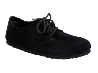 Outlet / Birkenstock Maine Black Velur bőr