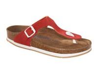Outlet / Birkenstock Gizeh Red Nubuk bőr Soft Széles talp