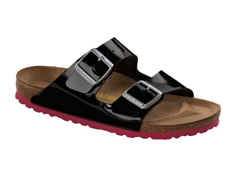 Birkenstock Arizona Black-Pink Lakk