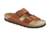 | Kétpántos papucsok / Birkenstock Arizona Bőr Antique brown normál talp