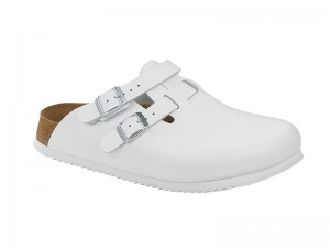 Klumpa / Birkenstock Kay SL Fehér Bőr Soft Csúszásgátlós talp