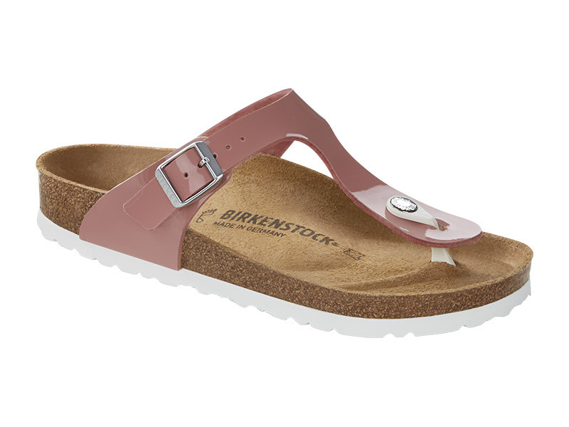 Birkenstock papucs Gizeh Patent Old Rose