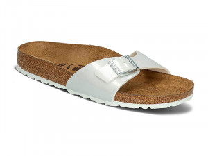 Papucs / Birkenstock papucs Madrid Patent Pearly White