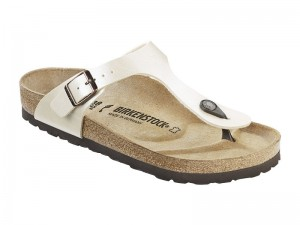 Papucs / Birkenstock papucs Gizeh Pearl White