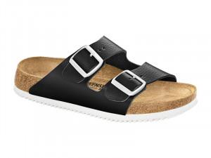 Papucs / Birkenstock Arizona SL Fekete Bőr Csúszásgátlós talp Soft