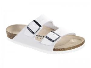 Papucs / Birkenstock papucs Arizona Fehér Bőr