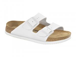 Papucs / Birkenstock Arizona SL Fehér Bőr Csúszásgátlós talp Soft