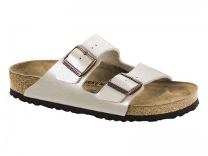 Outlet / Birkenstock Arizona Pearl White