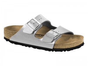 Papucs / Birkenstock Arizona Graceful Silver