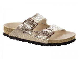 Outlet / Birkenstock Arizona Metallic Stone Copper