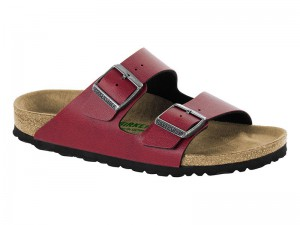 Papucs / Birkenstock Arizona Pull Up Bordeaux Vegan