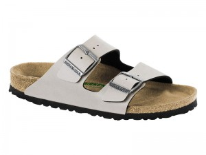 Outlet / Birkenstock Arizona Pull Up Stone Széles Vegan