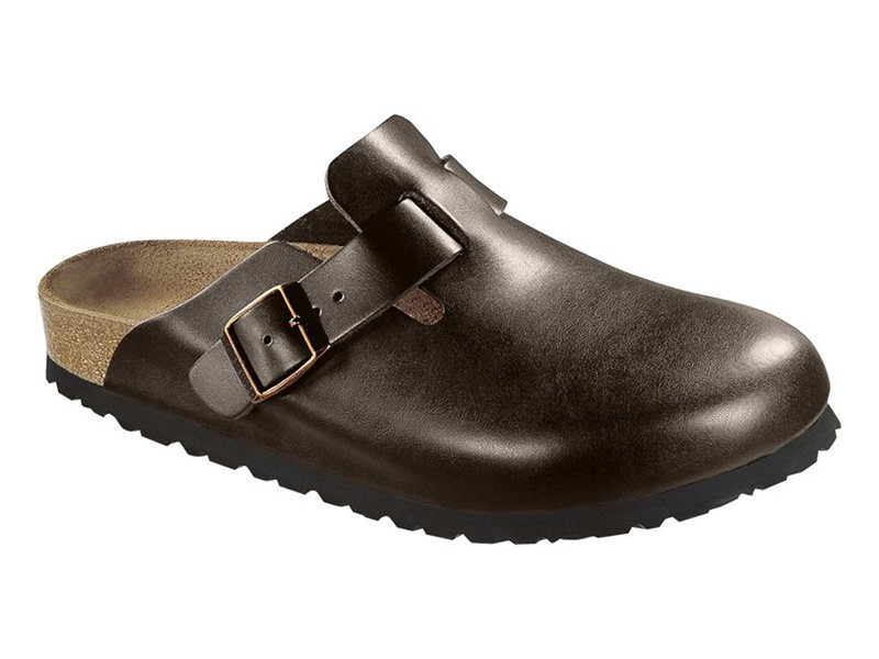 Birkenstock Boston Dark Brown Bőr Soft