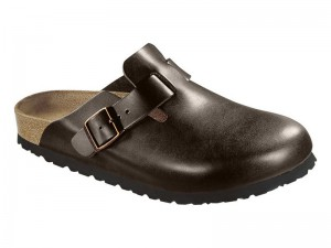 Klumpa / Birkenstock Boston Dark Brown Bőr Soft
